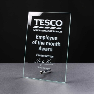 Flat Clear Glass Award - From £12.40 Including Engraving
