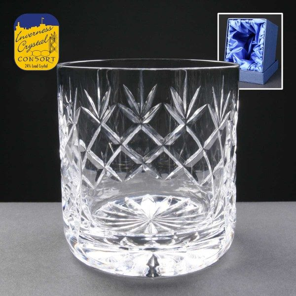 Earle Crystal Whisky Glass Supplied In Satin Lined Presentation Box - From £17.60