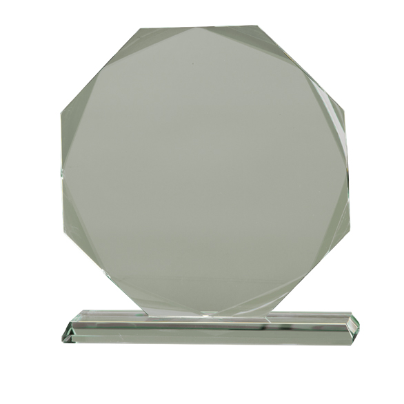 Hexagon Shaped Jade Glass Award In Presentation Box - From £22.00 Including Engraving
