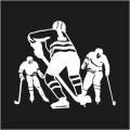 Ice Hockey Player Logo