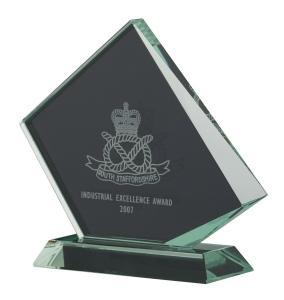 Jade Glass Award In Presentation Box